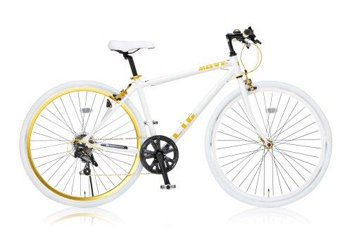 LIG(リグ) クロスバイク 700C シマノ7段変速[サムシフター] 前輪クイックリリース 前後キャリパーブレーキ LIG MOVE ホワイト