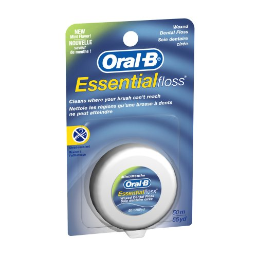 Oral-B Essential Floss, Waxed Mint, 55-Yards