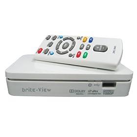 brite-View Playtime (BV-3100) 1080p HD Multimedia Player - white