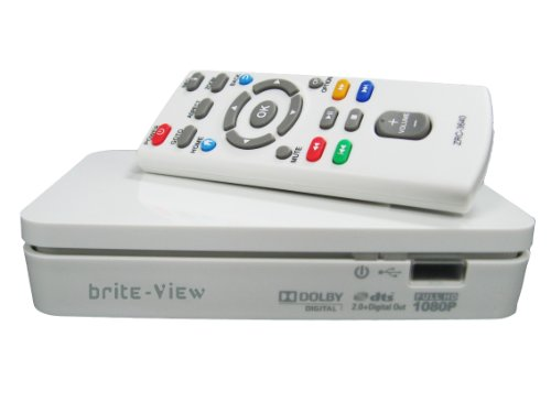brite-View Playtime (BV-3100) 1080p HD Multimedia Player – white