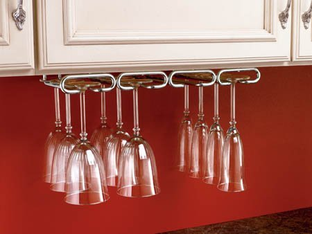 Rev-A-Shelf RS3450.11CR Quad Stemware Rack-Chrome