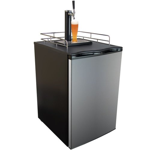 Cheapest Price! Keggermeister KM2800SS Kegerator Full-Size Single-Tap Beer Refrigerator and Dispense...