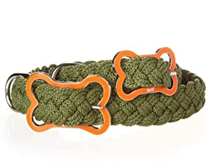 Mascot Sailor's Knot Collar - Small - Army with Orange