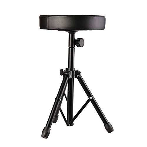 glarry-new-drum-soft-padded-seat-stool-stand-drummers-drumming-adjustable-chair