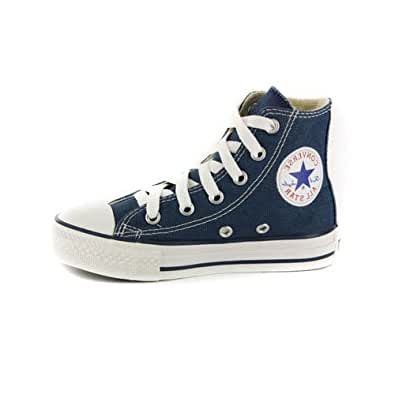 Kids converse all star chuck taylor navy high for Converse all star amazon