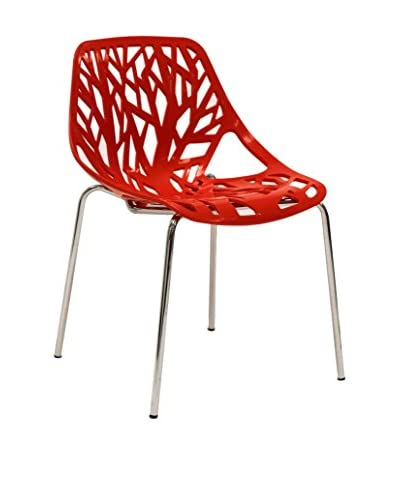 Modway Stencil Dining Side Chair, Red