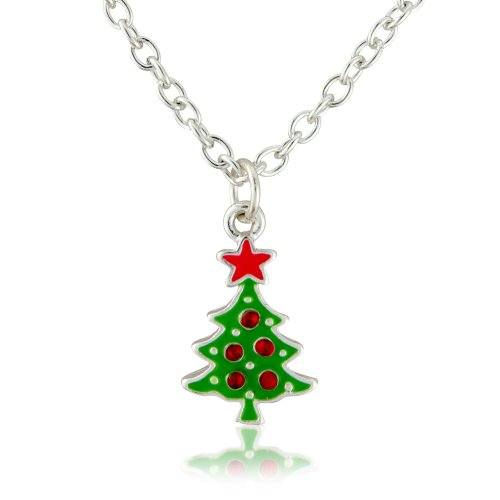 Christmas costume jewellery necklace - Xmas Tree Fashion Necklace - Suitable for women and children - Matching earrings available - Will arrive in a gift bag perfect stocking filler