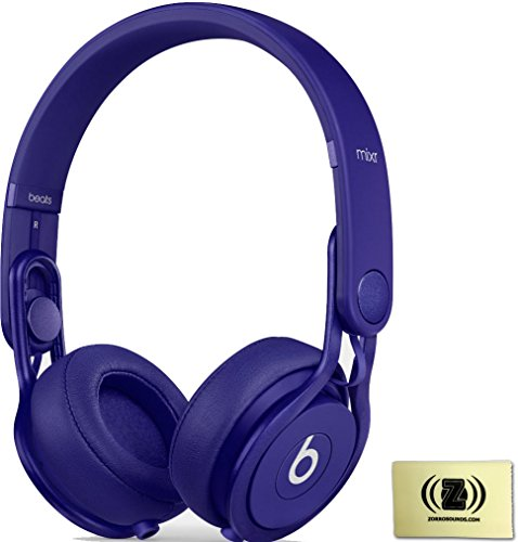 Beats By Dr. Dre Indigo Mixr On-Ear Dj Headphones Bundle With Zorro Sounds Cleaning Cloth