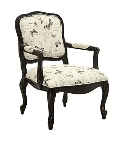Coast to Coast Accent Armchair, Beige Butterfly