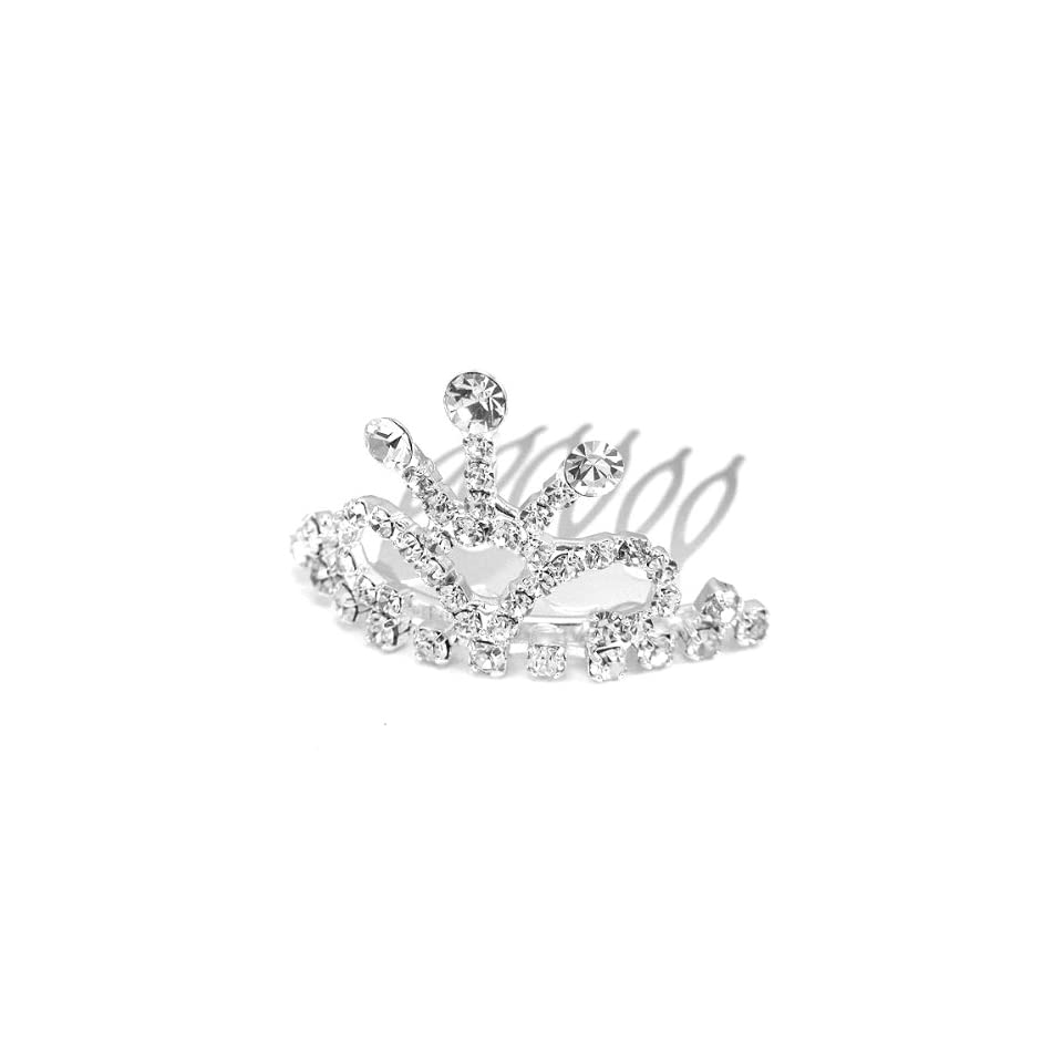 Perfect Gift   High Quality Glistering Crown Hair Pin with Silver Swarovski Crystals (2910) for Birthday Wedding Gift Free Standard Shipment Clearance Summer Sales