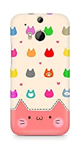 Amez designer printed 3d premium high quality back case cover for HTC One M8 (Cats Cartoon)