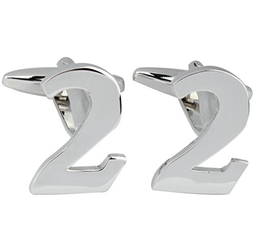 Gold Plated Mens Shirt Cufflinks for Wedding Business Number 2 Style Silver - Adisaer Jewelry