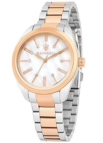 Maserati Time Pole Position Mujer Reloj Reloj de pulsera bicolor R8853112503
