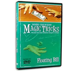 Amazing Easy to Learn Magic Tricks DVD: Floating Bill - Includes Professional Gimmicks!