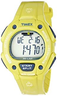 Timex Unisex T5K6849J Ironman Traditional 30-Lap Glimmer Full-Size Yellow Sheen Resin Strap Watch