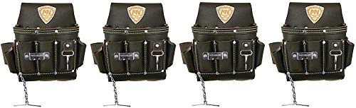 McGuire-Nicholas 526-CC Brown Professional Electrician'S Pouch (4-(Pack)) (Tamaño: 4-(Pack))