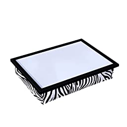 WELLAND Student Lapdesk Laptop Breakfast Serving Bed Tray (Zebra w/ Gift Box)