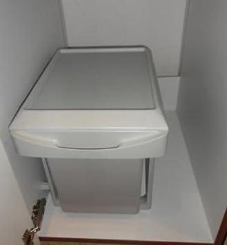 k chen einbau abfalleimer virtus 2 lichtgrau 2x 7 5 liter handauszug ab 40cm schrankbreite. Black Bedroom Furniture Sets. Home Design Ideas