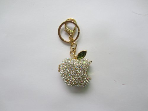 Lilly Rocket Big Apple Key Chain with Swarovski Crystal