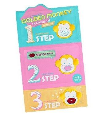 holika-holikar-golden-monkey-glamour-lip-3-step-kit-for-dry-and-cracked-lips-1-peeling-2-collagen-li