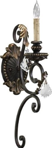 Quorum International 5357-1-44 Sconce with Shades, Toasted Sienna with Mystic Silver by Quorum
