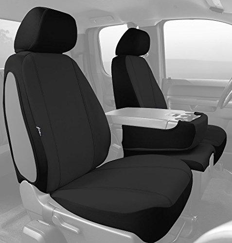 Fia SP88-31 BLACK Custom Fit Front Seat Cover Split Seat 40/20/40 - Poly-Cotton, (Black) (Silverado Custom Console compare prices)
