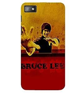 Evaluze bruce lee Printed Back Case Cover for BLACKBERRY Z10
