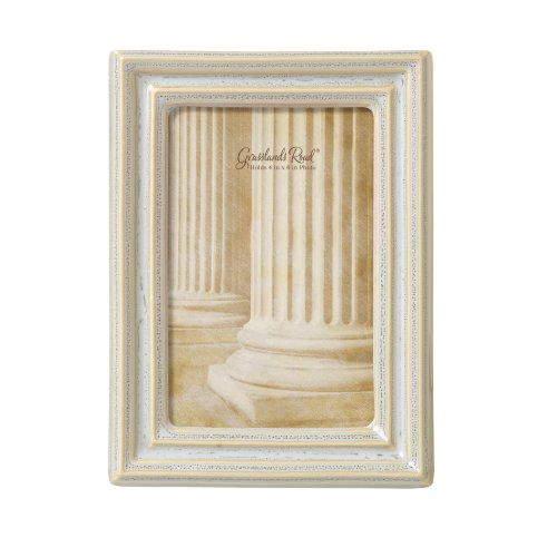 Grasslands Road Feather Gray Thin Mold Photo Frame, 4 By 6-Inch, Reactive Glaze, Ceramic, Gift Boxed front-646376