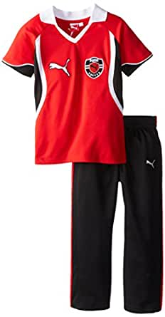 PUMA Little Boys' Win Perforated Set, Hi Risk Red, 2T