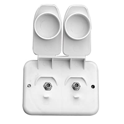 Prime Products 08-6212 White Duplex Receptacle TV Compact