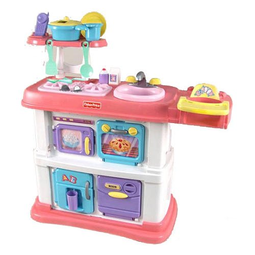 fisher price grow with me cook and care pink kitchen