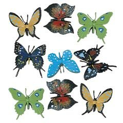 US Toy Detailed Toy Butterflies Assorted Breeds Novelty (1 Dozen)