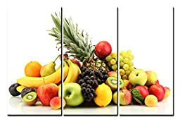 Canval prit painting Food Wall Art Many Kinds of Fruit Pineapple & Banana 3 Panels Picture on Canvas
