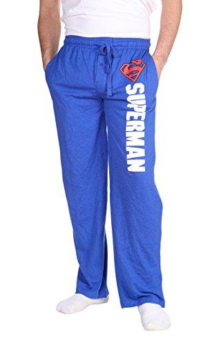 Superman Men's Pajama Pants Bottoms Cotton/Polyester Machine Washable M/32-34 (Superman Pants compare prices)