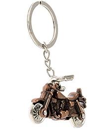 MM Bike 3D Metallic Shining Car Bike Logo Key Ring Chain Keychain Bronze COLOR