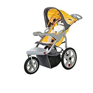 InStep Grand Safari Swivel Wheel Jogger Yellow/Gray