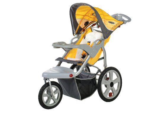 Instep Grand Safari Swivel Wheel Jogger, Yellow/Gray