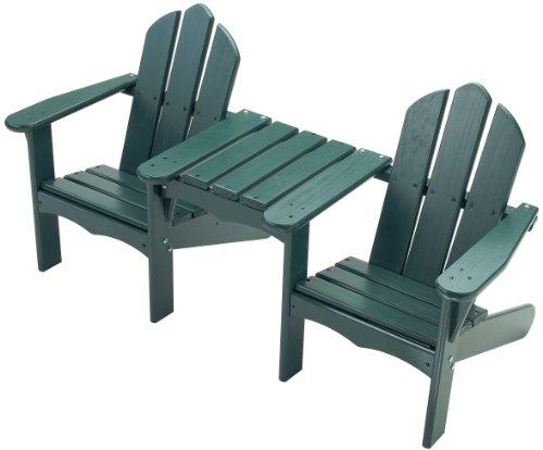 Little Colorado Child's Adirondack Tete-A-Tete Chair- Green