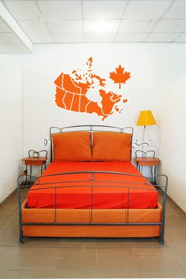 Canada Country Map Vinyl Wall Decal Sticker Graphic Large By LKS Trading Post