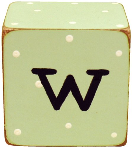 New Arrivals Letter Block W, Green/White