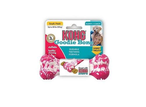 Artikelbild: Kong Puppy Kong Goodie Bone Spielzeug-Knochen und Leckerli-Spender für zahnende Welpen Größe S/M