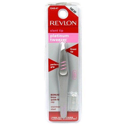 Revlon Platinum Tweezer, Slant Tip (Pack of 2)