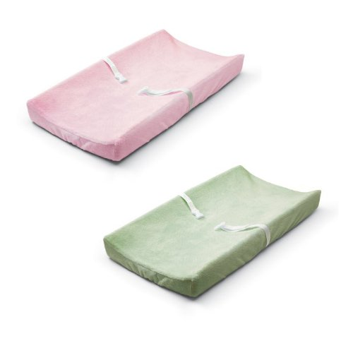 Summer Infant Ultra Plush Changing Pad Cover 2 Pack, Pink/Green