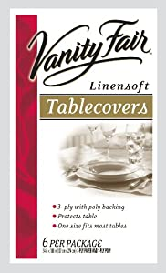 Vanity Fair Disposable Tablecovers, 3 Ply, 54