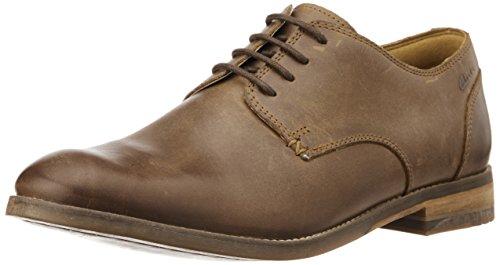ClarksExton Walk - Scarpe stringate Uomo, colore Marrone (Braun (Tobacco Leather)) taglia EU 42 (UK 8)