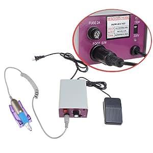 AGPtek® Complete Electric Nail Drill Kit Set Art File Bit Acrylic Manicure Pedicure Band, Low Noise and Vibration, Fuse Replaceable