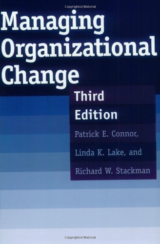 Managing Organizational Change: Third Edition