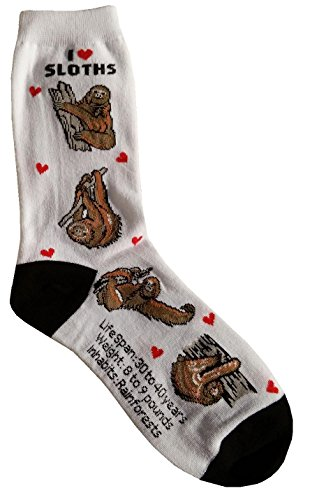 I Love Sloths Women Socks Cotton New Gift Fun Unique Fashion