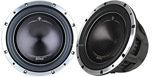 New Pair Boss P128Dc 2400 Watt 12 Inch Car Audio Subwoofer 4 Ohm Dvc 1200W Rms