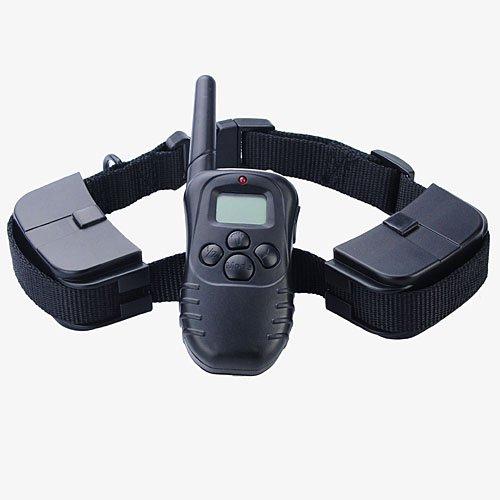 Remote Pet Training Collar With Lcd Display + 300 Meters Range-Black